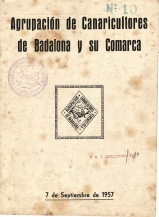 AGRUPACION DE CANARICULTORES DE BADALONA-1957