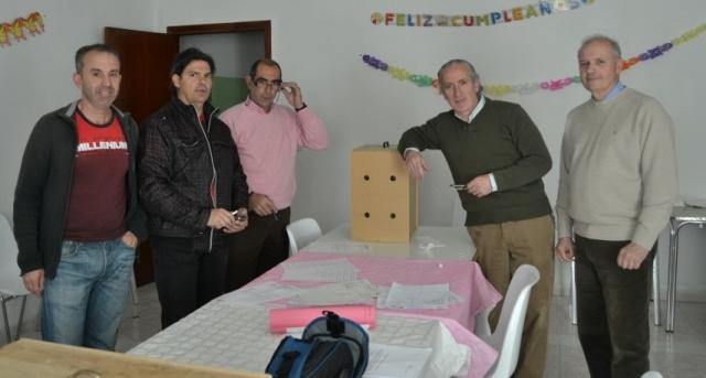 Antono Vinagre, Chano, Barrantes, Rosado y Javier Pizarro