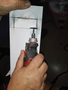 Perforando con una dremel