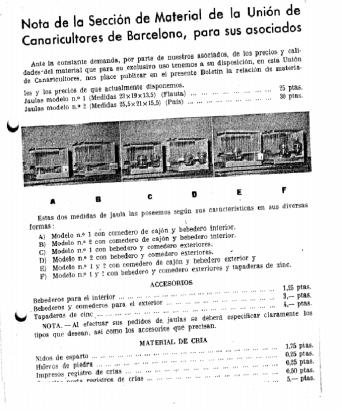Economato U. de Canaricultores de Barcelona
