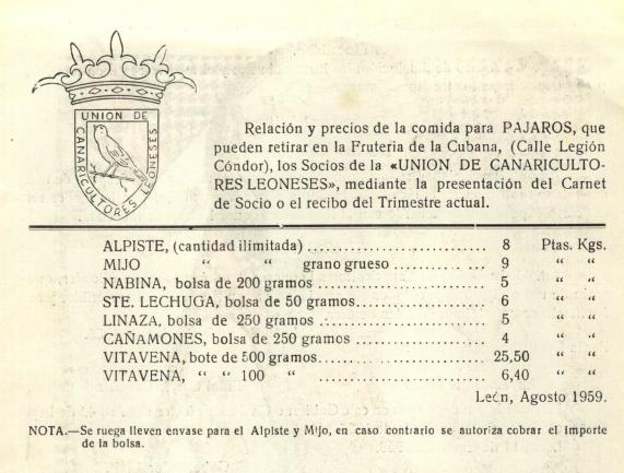 Economato U. de Canaricultores Leoneses
